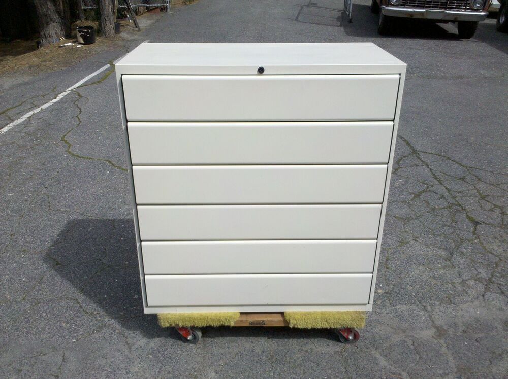 CARD FILE CABINET 6 DRAWER LATERAL 36 OFFICE SPECIALTY