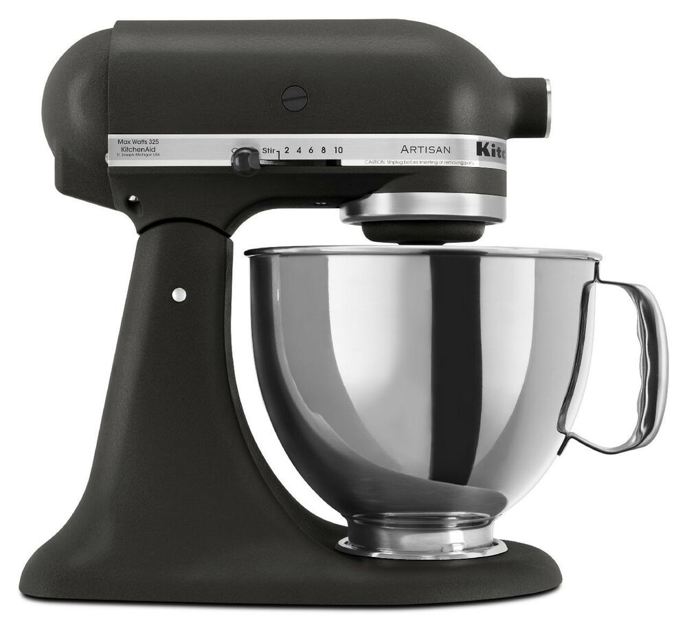 KitchenAid Stand Mixer tilt 5Quart RRK150BK Artisan 10sp Imperial Black 50946877020  eBay