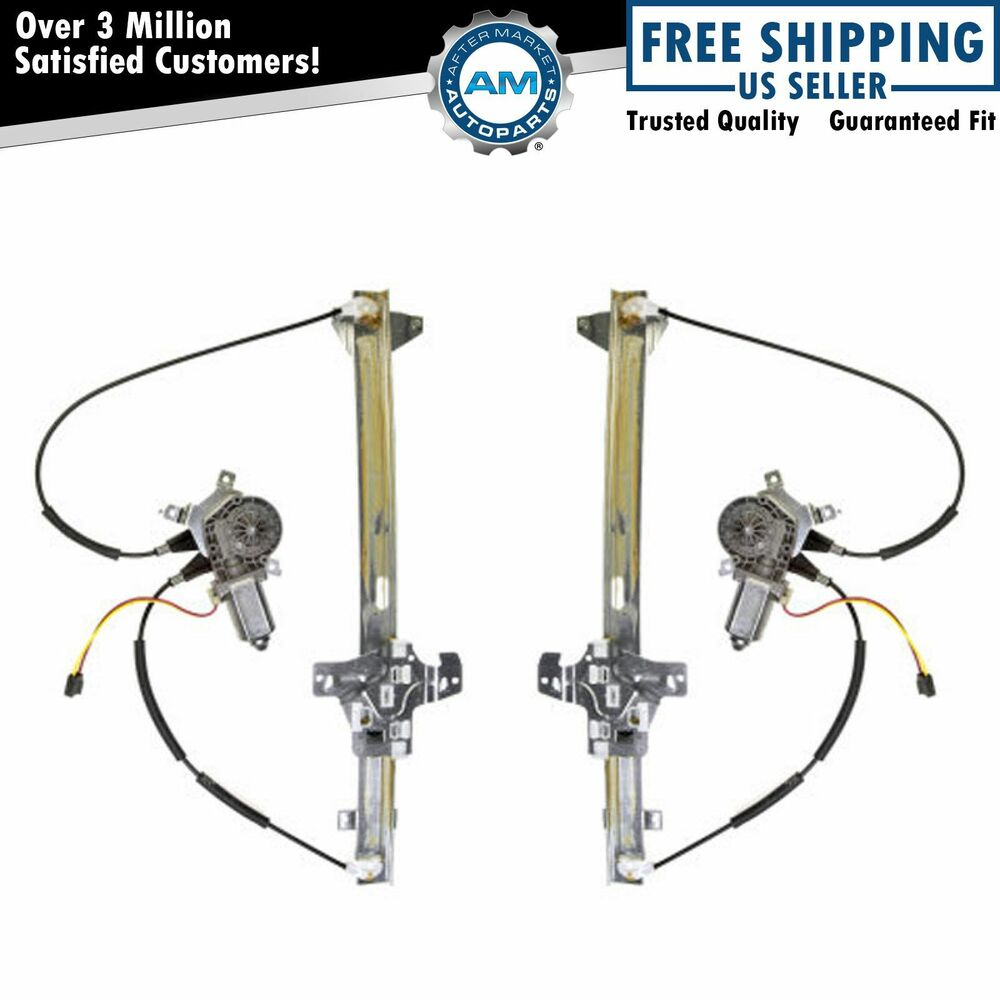 Power Window Regulator w/ Motor Front Pair Set of 2 for
