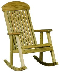Outdoor Treated Yellow Pine PORCH ROCKER - ROCKING CHAIR ...