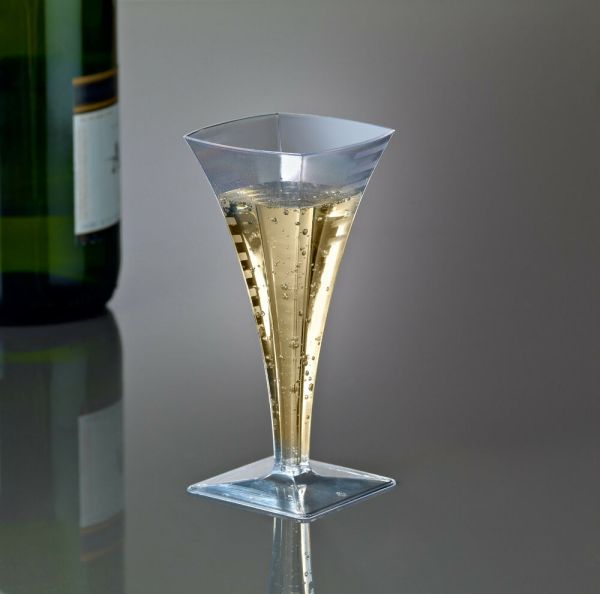 Mini Champagne Wine Flute Glasses Cups Heavy Weight