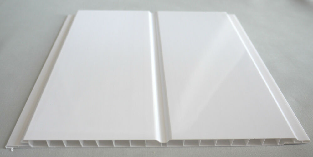 10 Gloss White Twin Wet Wall Panels PVC Ceiling Kitchen