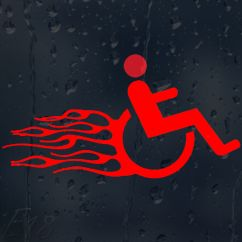 Wheelchair Accessories Ebay Zoella Desk Chair Funny Fast And Furious In Fire Flames Car Decal Vinyl Sticker |