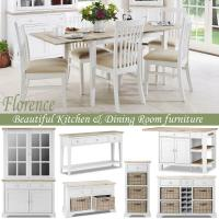 Stunning large round extended kitchen dining table and ...