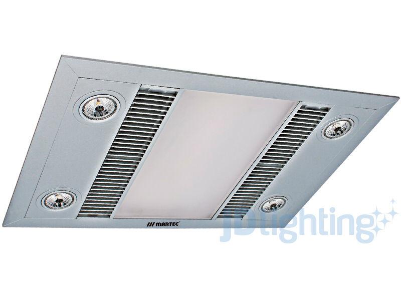 SILVER LED 3 IN 1 BATHROOM HEATER EXHAUST