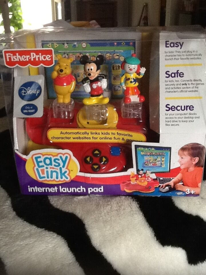 New Fisher Price Easy Link Internet Launch Pad Disney