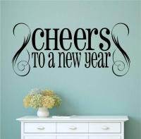 Cheers To A New Year Vinyl Wall Decals Sticker Words ...