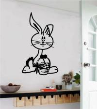 Easter Bunny Vinyl Decal Wall Sticker Spring Home Decor ...