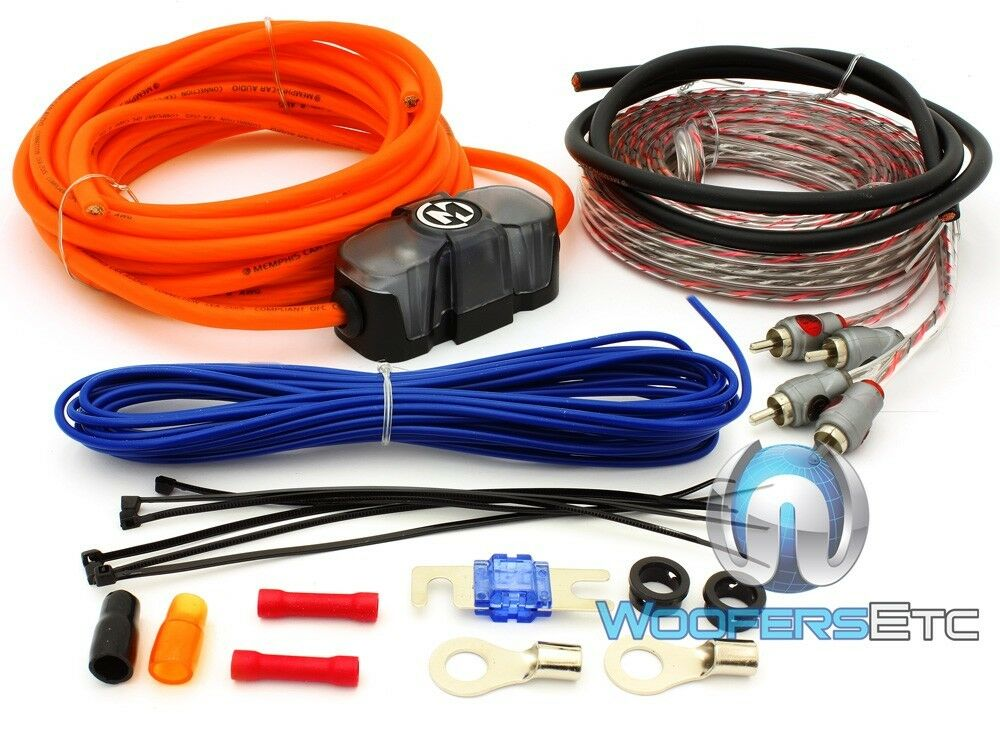 Gauge Car Audio Amplifier Wiring Sub Amp Install Wire Kit Ebay