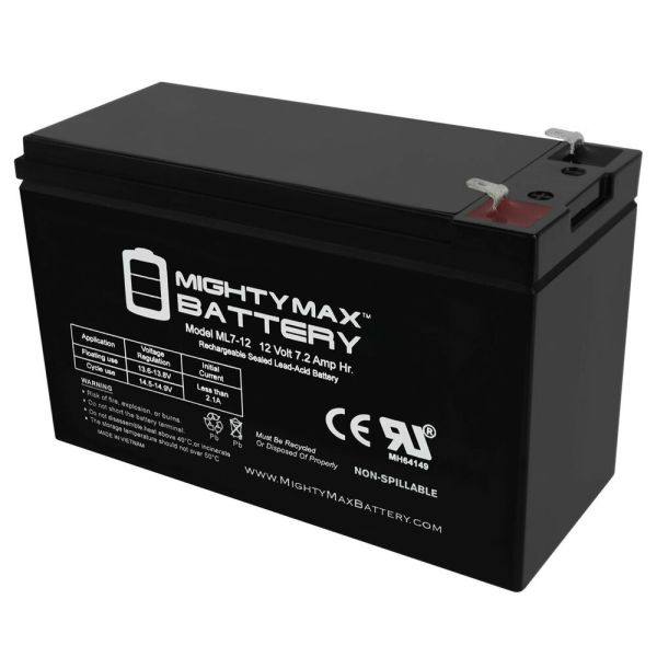 Mighty Max Ml7-12 - 12v 7.2ah Verizon Fios Replacement Battery