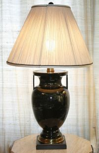Vintage FREDERICK COOPER Table Lamp. Swirl Pattern Urn ...