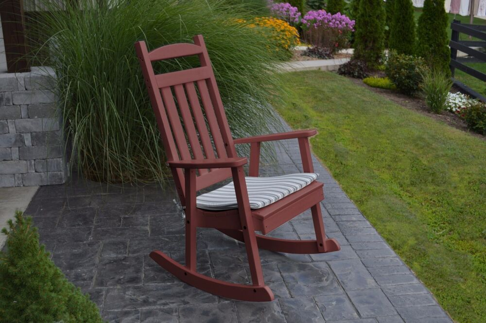 POLY CLASSIC ROCKING CHAIR CHERRY WOOD COLOR  PORCH