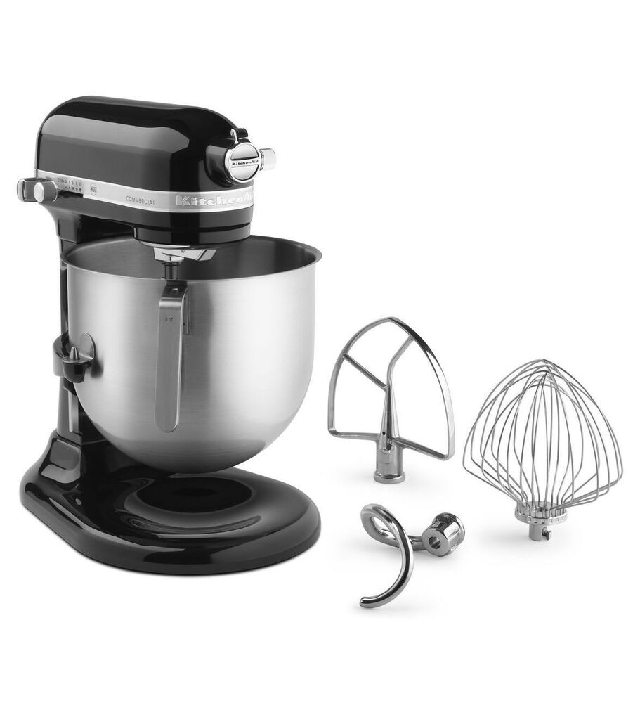 KitchenAid Commercial 7 Qt Bowl Lift NSF Stand Mixer RKSM7990OB 1 3HPMOTOR Black  eBay