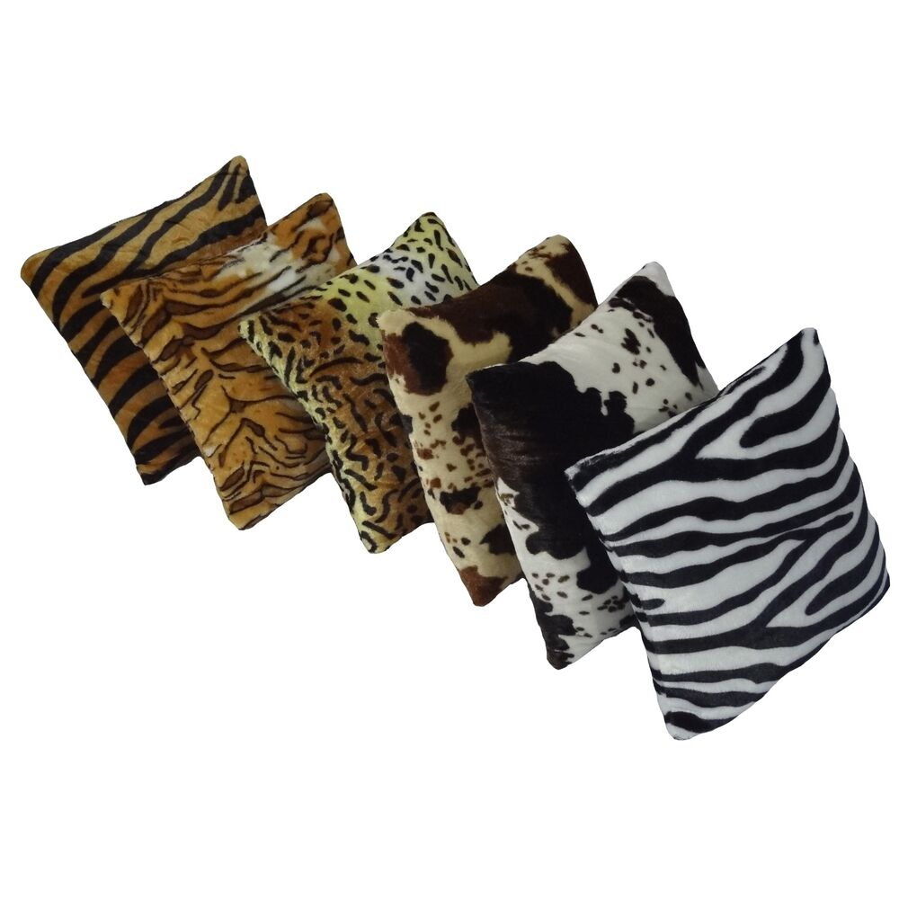 deer print sofa covers black leather living room ideas new animal pattern faux fur decorative throw pillow cover ...