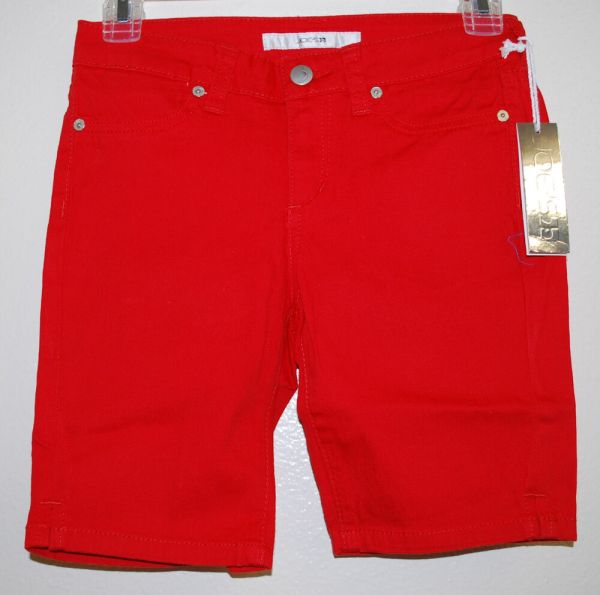 Joe' Jeans Girls Solid Red Bermuda Stretch Everyday