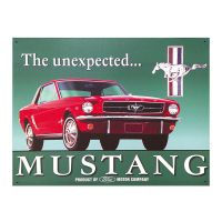 Ford Mustang Unexpected Metal Sign Classic Muscle Car ...