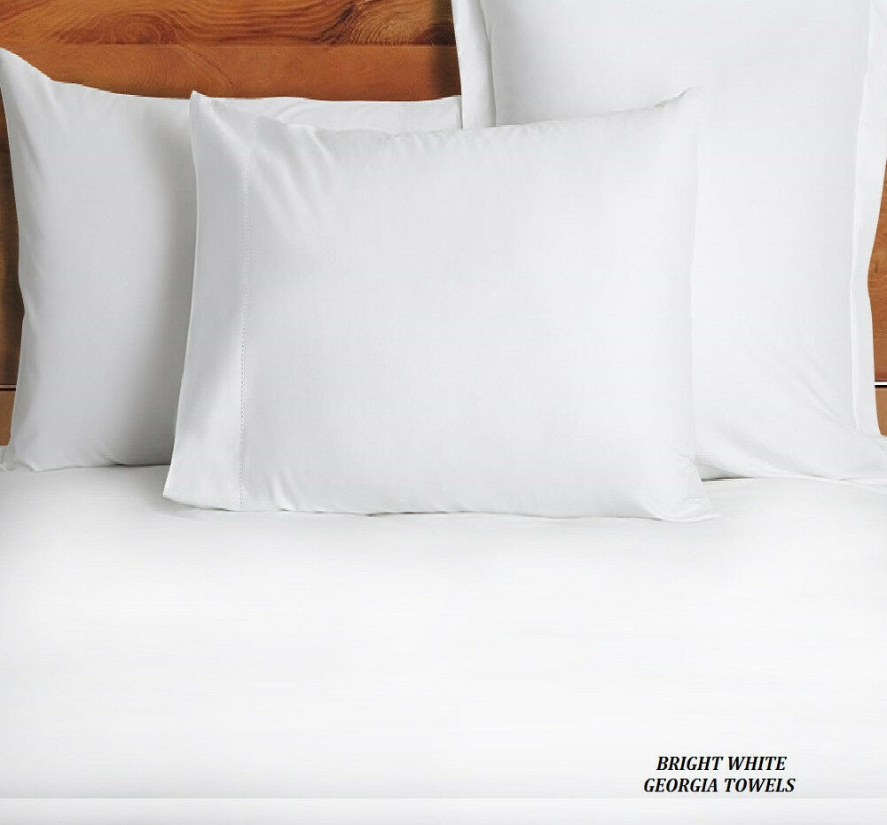 48 NEW WHITE STANDARD 20X32 SIZE HOTEL PILLOW CASES