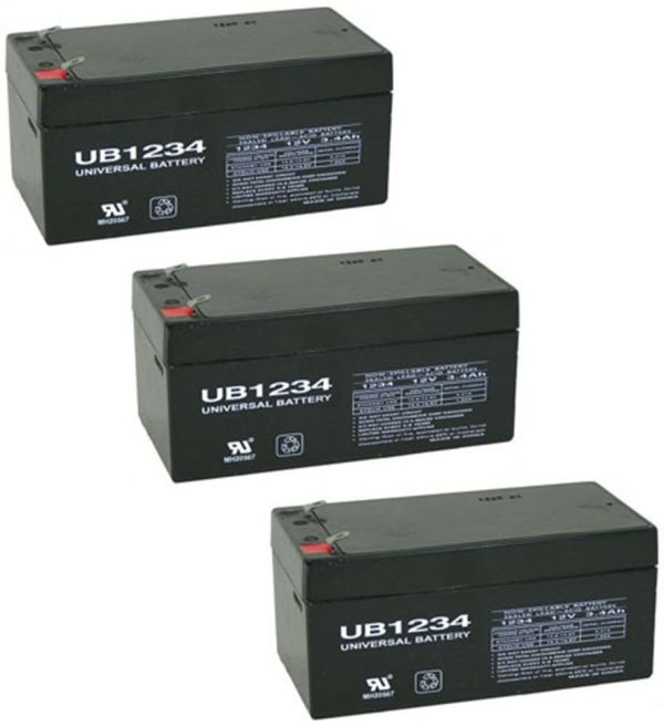 Upg 3 Pack - Replacement Part Toro Lawn Mower # 106-8397 Battery-12 Volt