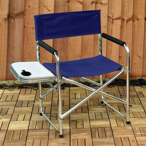 NEW Aluminium  Canvas Directors GardenCamping Chair with
