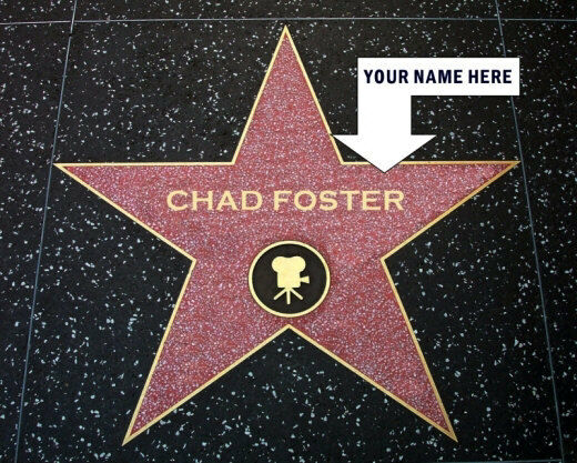 Personalized Hollywood Walk Of Fame Star Photo 8X10 Your