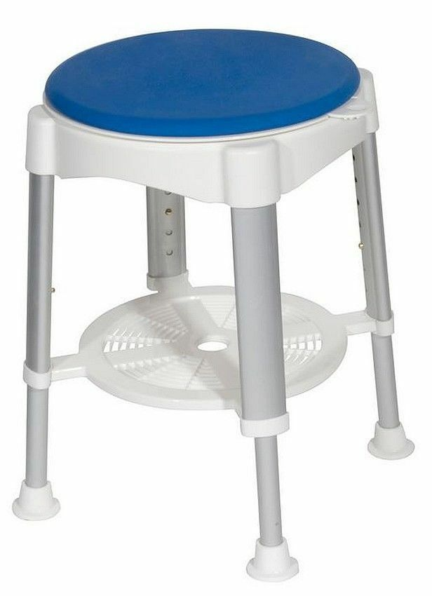 bath chair for elderly desk combo rotating shower stool 400 lb. capacity padded seat adjustable height | ebay