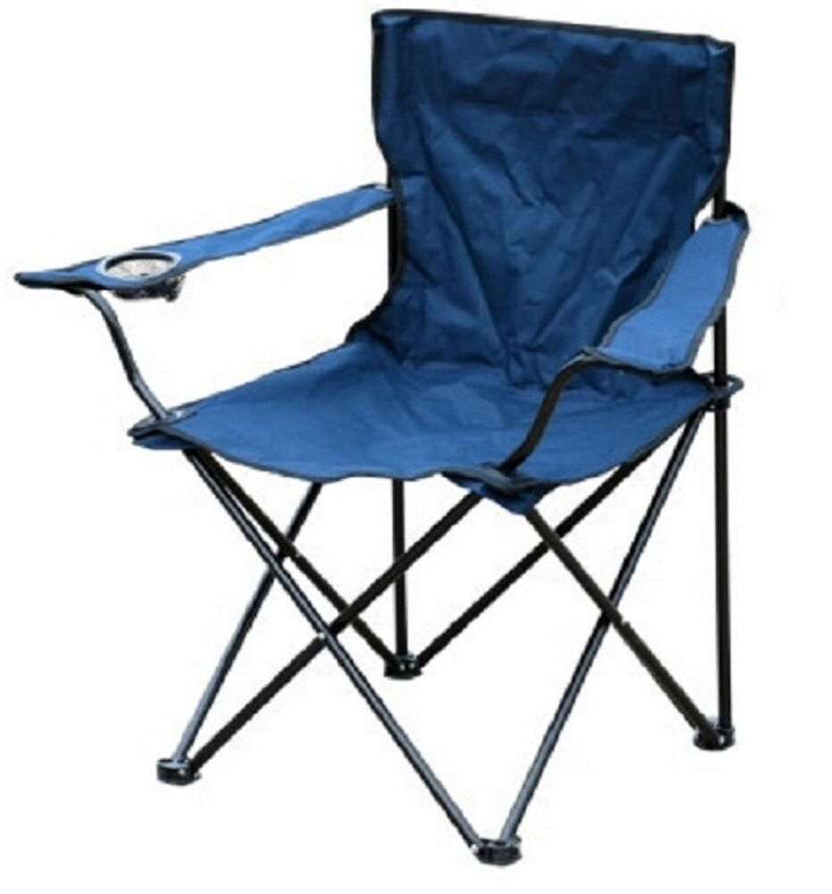 NEW Folding Blue Outdoor Camping Chair Fishing Foldable