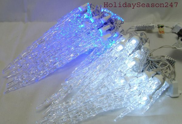25 TWINKLING ICICLE CHRISTMAS LED LIGHT STRING HOLIDAY