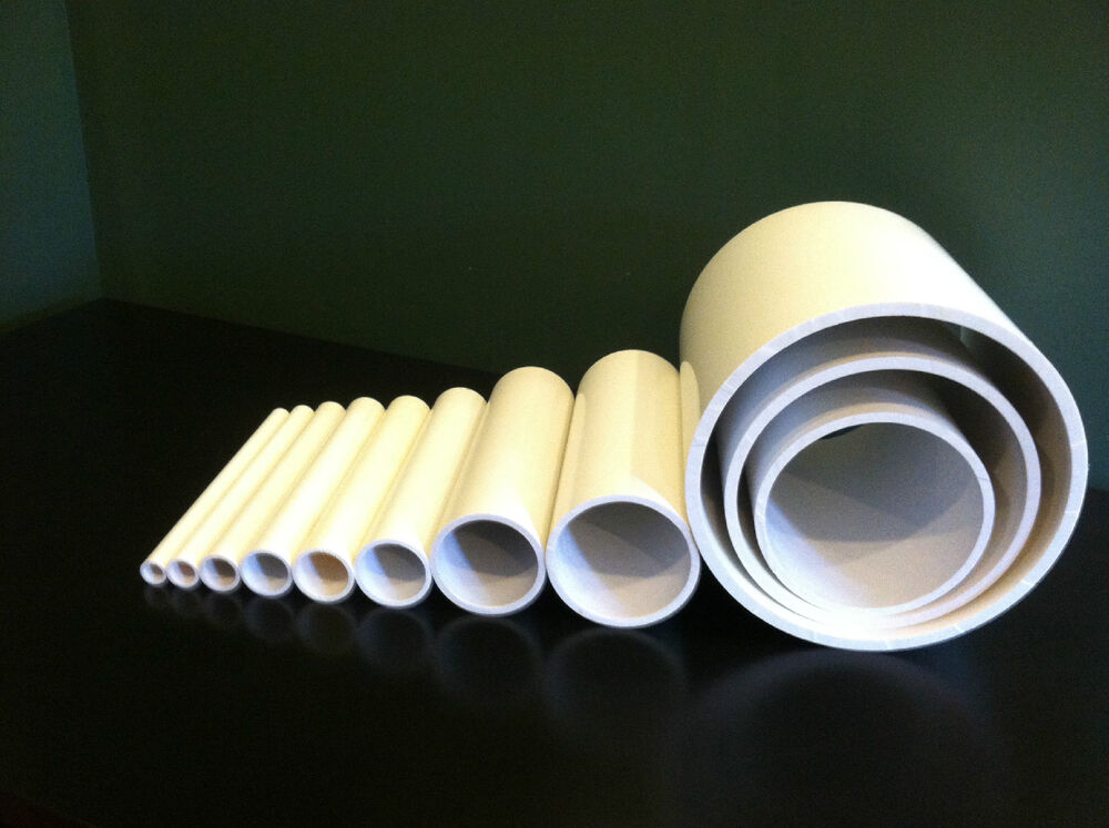 """Any Size Diameter PVC Pipe Sch. 40 or 80 (1/4"""""""