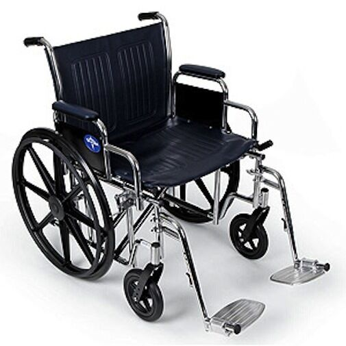 Medline Excel Extra Wide Wheelchair 450 Lb 24 Inch Seat  eBay