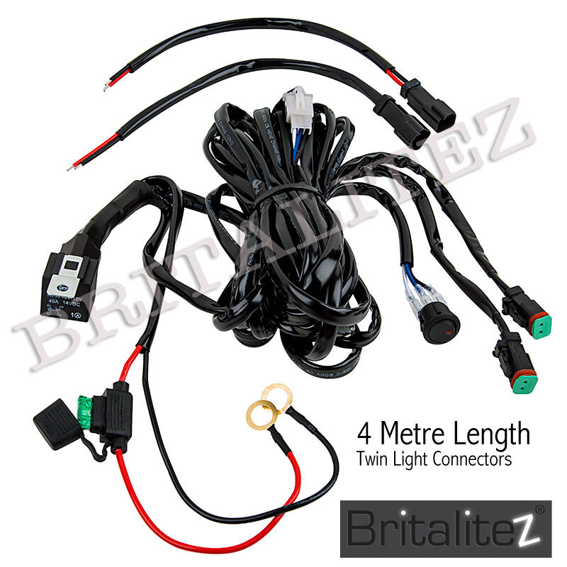 12V TWIN Wiring kit Includes Switch & Relay LED Spotlights