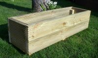 Large decking wooden garden planter, 800, 1000 or 1200mm