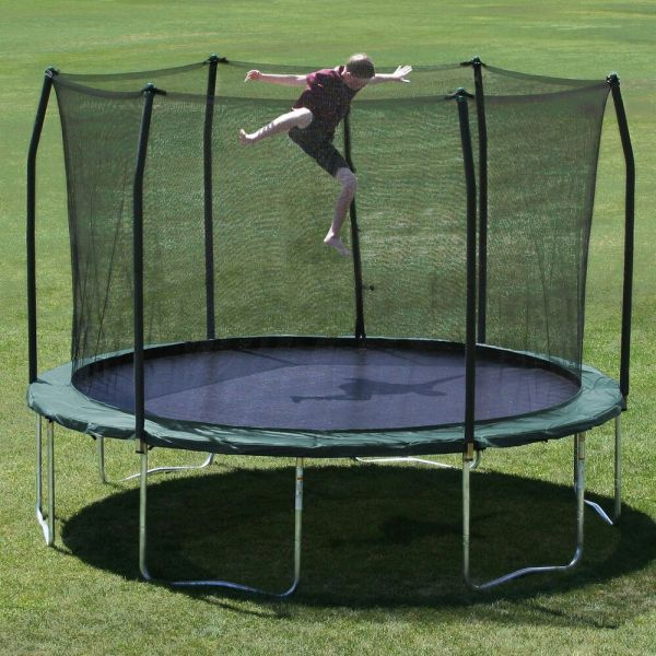 Skywalker Trampoline 12 Foot And Enclosure Green Safety