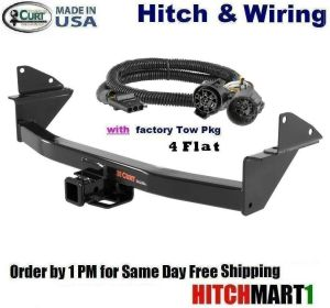 8K CURT TRAILER HITCH & WIRING FOR 2015 CHEVY COLORADO w
