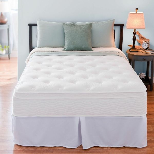 Night Therapy Euro Box Top Spring Mattress And Bed Frame Set Full