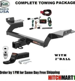 fits 2013 2016 ford escape class 3 curt trailer hitch package w 2  [ 992 x 1000 Pixel ]