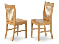 Set of 4 Norfolk dinette kitchen dining chairs with wood ...