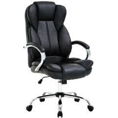 Ergonomic Office Chair Ebay Funky Dining Room Chairs High Back Pu Leather Executive Desk Task Computer W/metal Base O18  