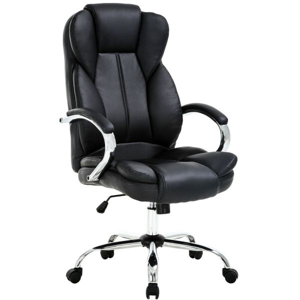 High Pu Leather Executive Office Desk Task Computer Chair Withmetal Base O18