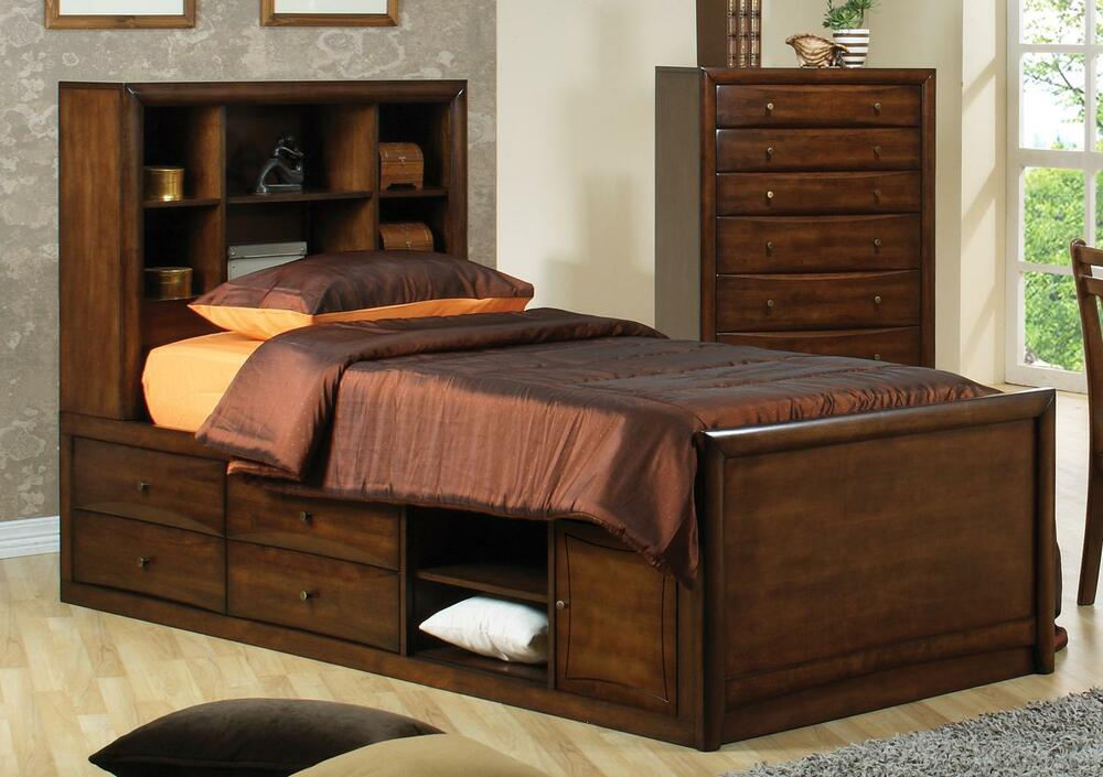 TERRIFIC MODERN TWIN CAPTAINS STORAGE CHEST BED YOUTH