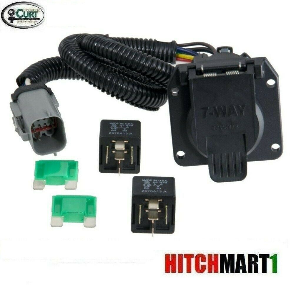 6 way trailer light wiring diagram simple for switch curt hitch 7 plug 1999-2001 ford f250 sd w/ factory 4way | ebay