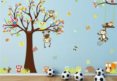 Forest Friends Wall Decal Ebay