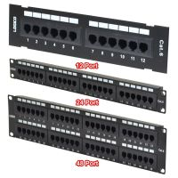 CAT6 UTP 12/24/48 PORT NETWORK PATCH PANEL 110 W SURFACE ...