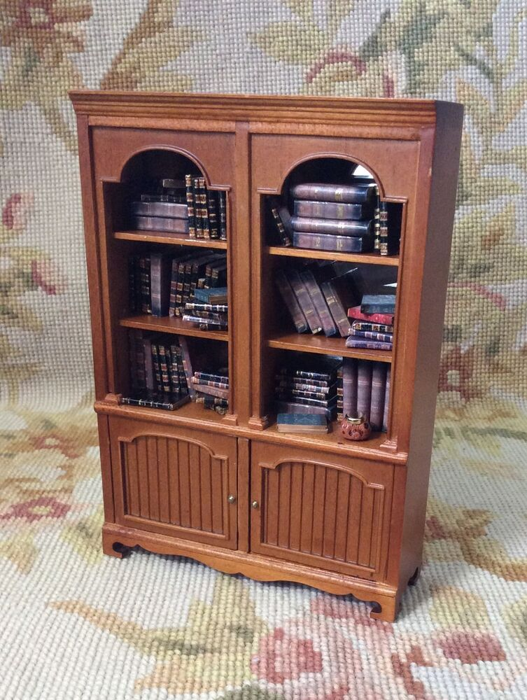 Bespaq Pat Tyler Dollhouse Miniature Filled Bookcase Shelf