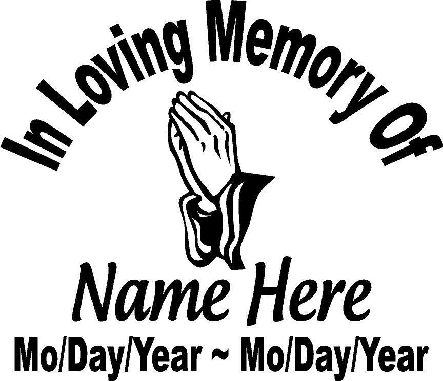 In Loving Memory Of Praying Hands 20