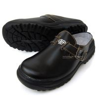 Men Chef Shoes Cowhide Leather Kitchen Safety shoes Cook ...