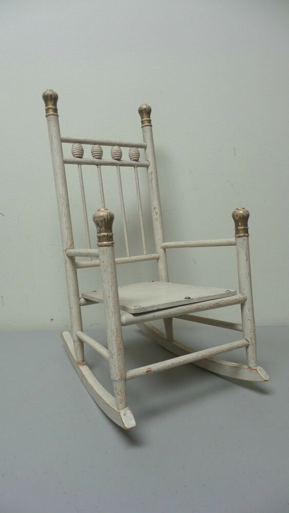 antique child rocking chair leather club pottery barn hand made primitive 16