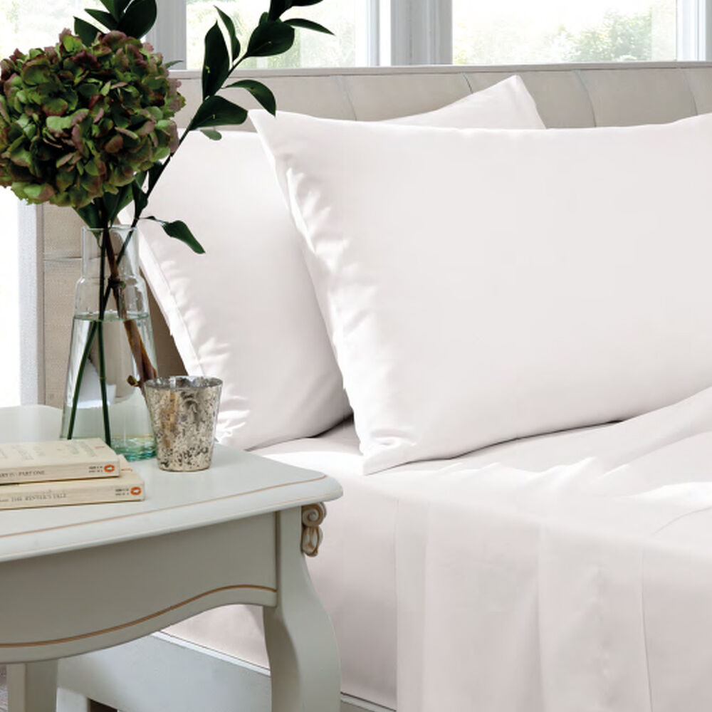600 Thread Count 100 Egyptian Cotton Sateen Flat Bed