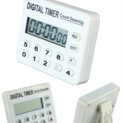 Loud Kitchen Timer Memory Foam Rugs Digital Lcd Cooking Count Down Up Clock ...