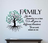 Family Like Branches On A Tree Vinyl Decal Wall Sticker ...