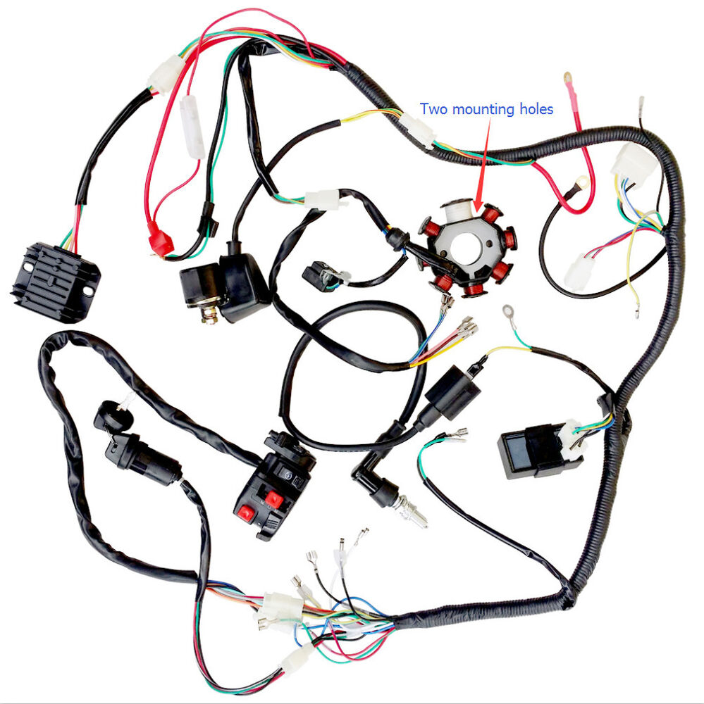 hight resolution of complete electrics atv quad 200cc 250cc cdi wire harness zongshen lifan us stock ebay